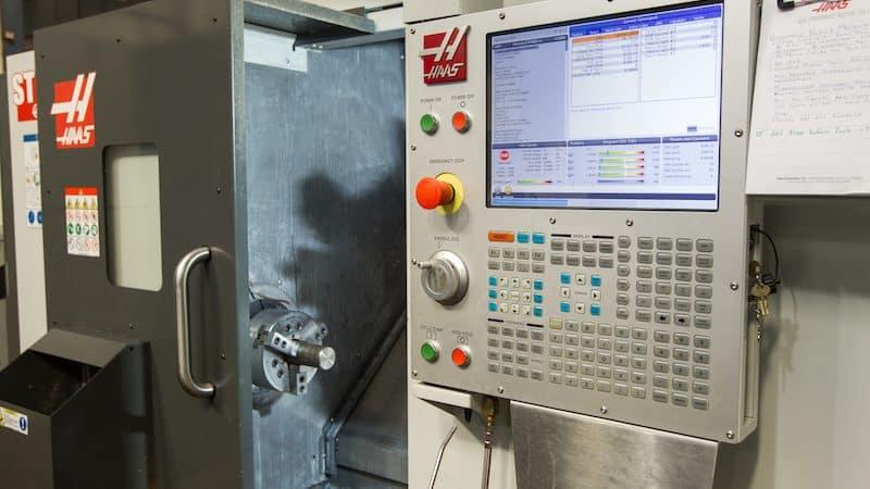 a cnc machine in a machine shop